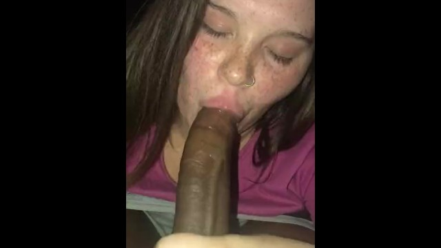 White Girl Swallowing Bbc